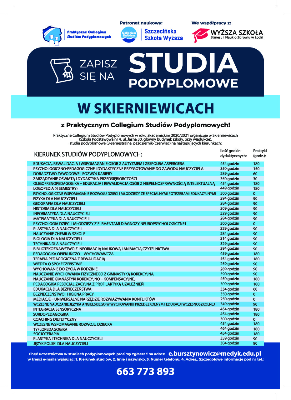 studia podyplomowe w skierniewicach
